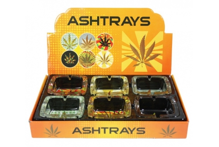 Ashtray - Leafy 3 - Square (Display de 6)