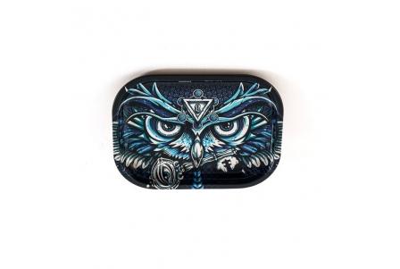 HQ Metal rolling tray - Owl - 18x14cm
