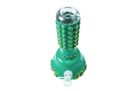 420 Pearl Handle Heavy Bong - Vintage Green/Gold- 25cm
