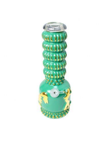 Stripper Heavy Bong - Vintage Green/Gold- 27cm (small imperfections, special price)