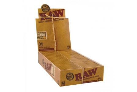 Raw Papers 1 1/4 (24 booklets) - 50 Leaves