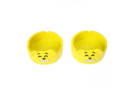 Emoji Ashtray - Happy Bear (Box of 2)