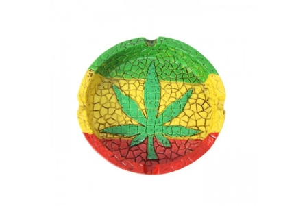 Rasta Leaf Ashtray (Box of 2)
