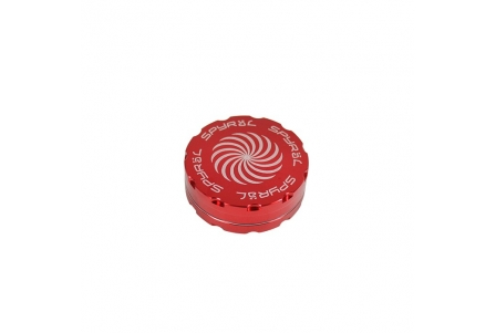 2 Part Spyräl Grinder 17 x 62mm (2.5) - RED