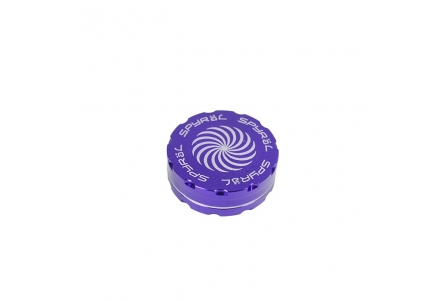 2 Part Spyräl Grinder 17 x 62mm (2.5) - PURPLE