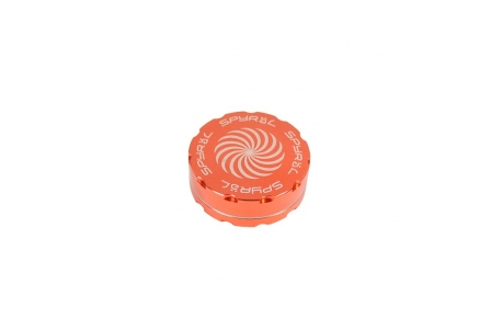 2 Part Spyräl Grinder 17 x 62mm (2.5) - ORANGE
