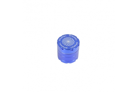 4 Part Spyräl Grinder 43 x 40mm (1.5) - Blue