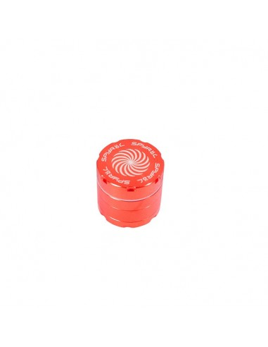 4 Part Spyräl Grinder 43 x 40mm (1.5) - RED