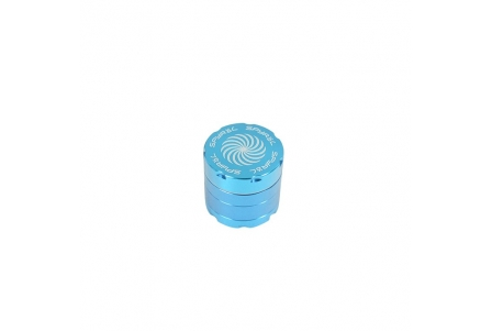 4 Part Spyräl Grinder 43 x 40mm (1.5) - Teal (Light Blue)