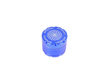 4 Part Spyräl Grinder 43 x 55mm (2.2) - Blue