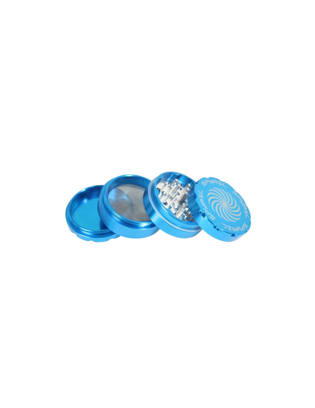 4 Part Spyr 228 L Grinder 43 X 62mm 2 5 Teal Light Blue