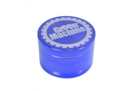 4 Part Green Machine Grinder 50mm - Blue