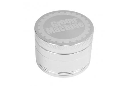 4 Part Green Machine Grinder 55mm - Silver