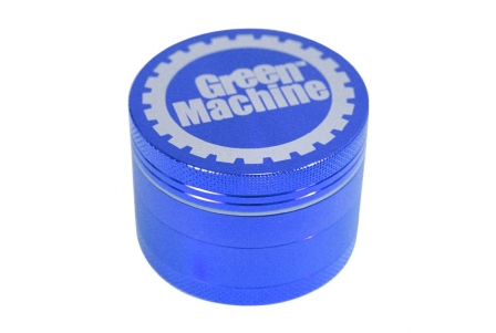 4 Part Green Machine Grinder 62mm - Blue
