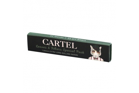 CARTEL Rolling Papers Extra Long 130mm + Tips (Display of 24)