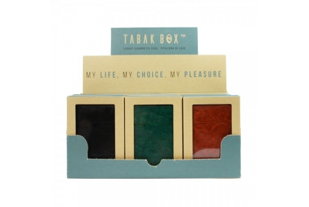 MM Tabak Box® Cigarette Case Collection 2 - Display of 12