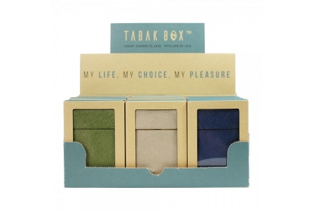 MM Tabak Box® Cigarette Case Collection 5 - Display of 12