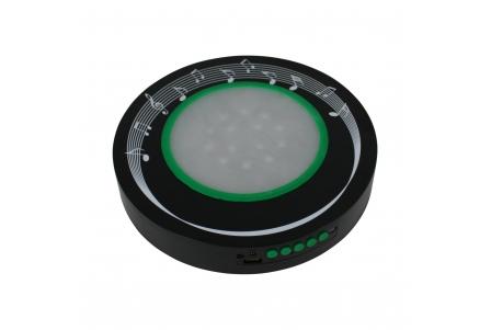 Base de 10 pulgadas con LEDs recargable con altavoz Bluetooth
