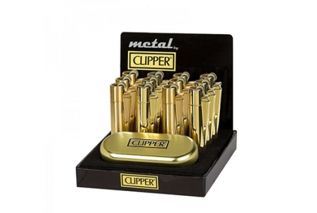 CLIPPER Metal Gold (display of 12)