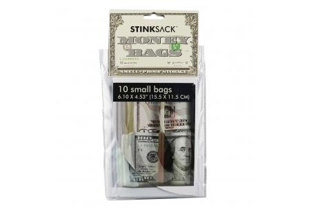 10 Small Dollar Money Bags (15. x 11.5cm)