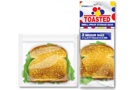 3 Medium Toasted Bags (19.15x17.7cm)