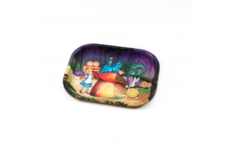 HQ Metal rolling tray - Alice and Friends - 18x14cm