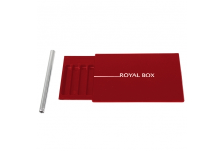 Royal Box with Steel Pipe - Red