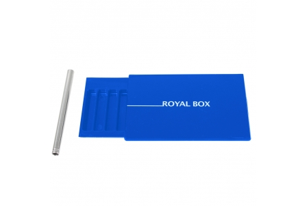 Royal Box with Aluminium Pipe - Blue