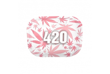 HQ Metal rolling tray - 420 Pink - 18x14cm