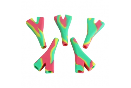 Silicone Double Joint Holder - Rasta (pack of 5)