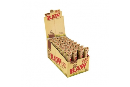 Raw Cones 1/4 - Organic Hemp (32 units of 6 cones)