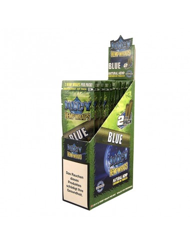 Juicy Hemp Wraps - Blue (2x25 per box)