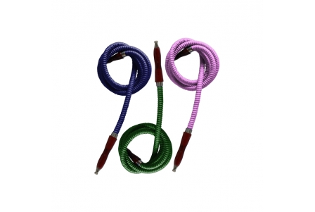 Shisha Hoses - Assorted Colours - Pack of 3