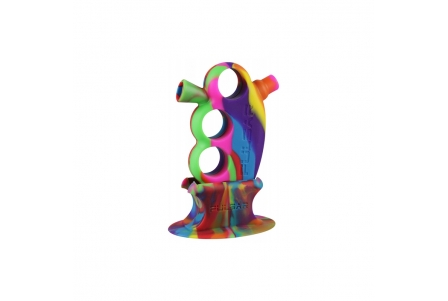 Pulsar RIP Knuckle Bubbler with Matching Stand - Tie Dye
