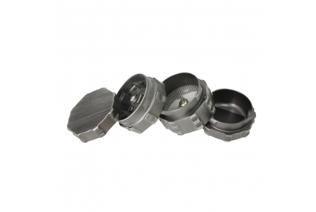 4 Part Engineer Grinder - 43x47mm - Silver Zinc