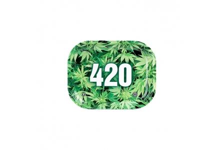 HQ Metal rolling tray - 420 - 18x14cm