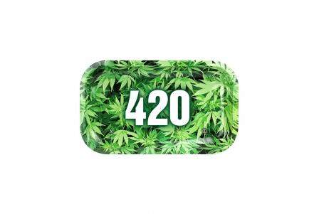 HQ Metal rolling tray - 420 - 27x16cm