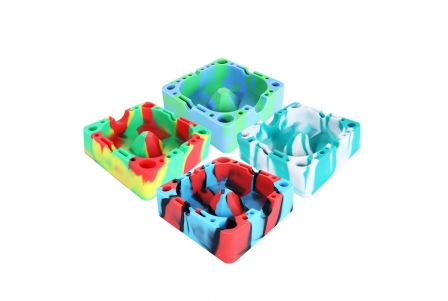 Silicone Ashtray - Assorted Colours - Pack of 4