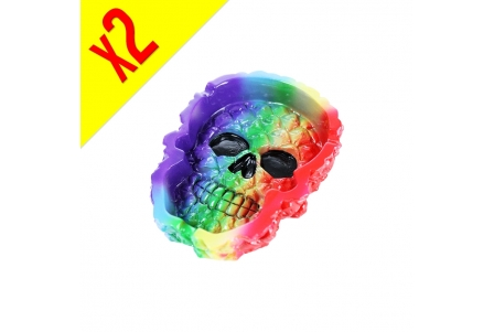 Rainbow Skull Ashtray - Box with 2 units