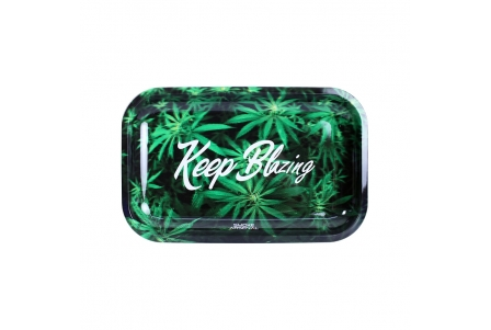 Metal Rolling Tray - Keep Blazing - Medium