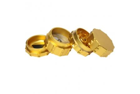 4 Part Engineer Grinder - 50x55mm - Gold - Aluminium