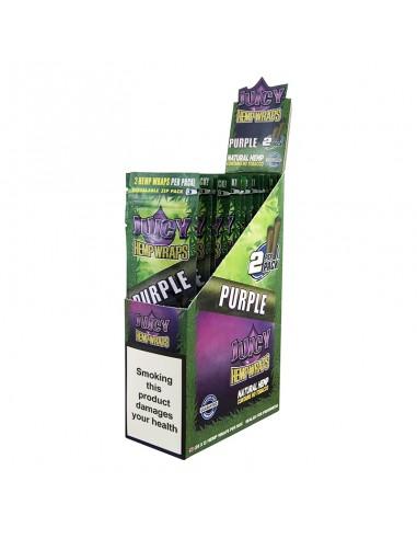 Juicy Hemp Wraps - Purple (2x25 per box)