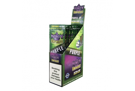 MM Juicy Hemp Wraps - Purple (2x25 per box)