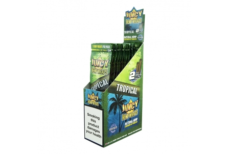 Juicy Hemp Wraps - Tropical (2x25 per box)