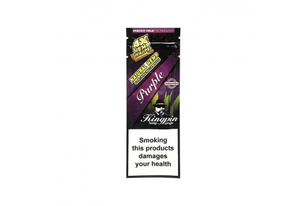 Kingpin Hemp Wrap Purple 25x4/Box