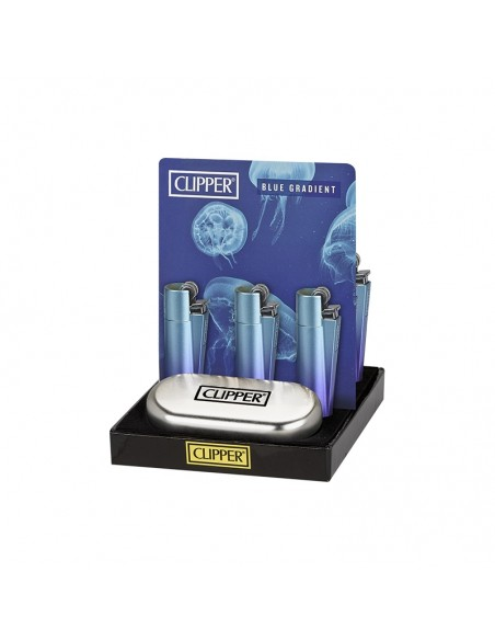 CLIPPER Micro Metal Blue Gradient - Display of 12