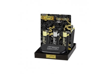 CLIPPER Metal Super Dragons - Display of 12