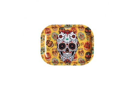 Metal Rolling Tray - Sugar Skulls - Small