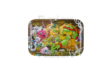 Dunkees Rolling Tray - Pizza Time - 30x20cm