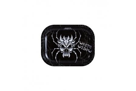 Metal Rolling Tray - White Widow - Small 18x14cm